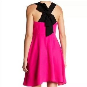 Cece Pink & Black Bow cocktail party dress 6